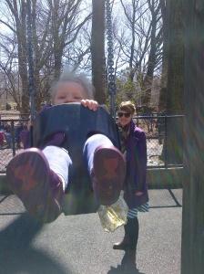 Molly on swing